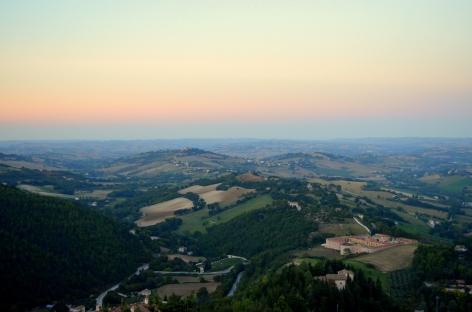 La vallata di Arcevia vista dal Belvedere